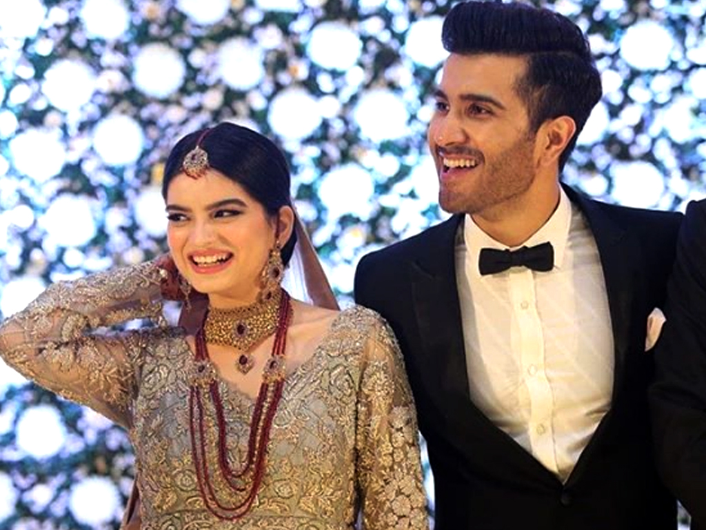 Feroze-Khan and Alizey on their Valima