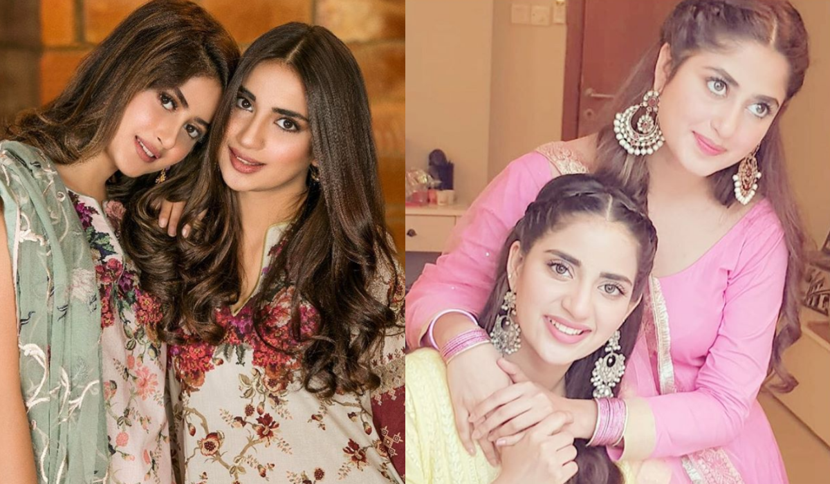 Sajal and Saboor photo collage