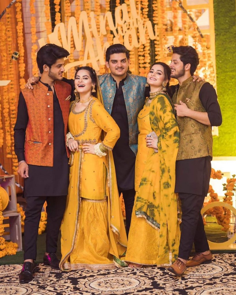 Aiman and Minal Khan with brothers